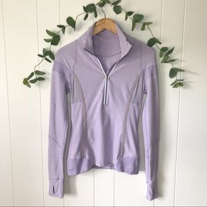 Lululemon Light Purple Quarter Zip Pullover